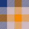 紺とオレンジベースのガンクラブチェックパターン