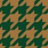 茶色と緑色のハウンドトゥース(千鳥格子)柄パターン