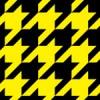 黒と黄色のハウンドトゥース(千鳥格子)柄パターン