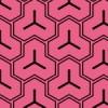 ピンクと黒の毘沙門亀甲柄パターン