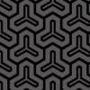黒色の毘沙門亀甲柄パターン