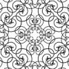 蔦が絡みあったような白黒のアラベスク柄パターン