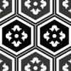 黒色の亀甲柄パターン