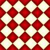 グラデーションがかった赤と白のハーリキンチェック柄パターン