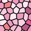 ピンク色のステンドグラス柄パターン