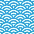 水色と白の青海波柄パターン