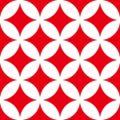 紅白の七宝柄パターン