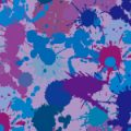 紫色ベースのインクが飛び散るパターン