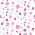 桜のイラストが舞い散るパターン