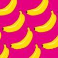 ポップなバナナのイラストパターン